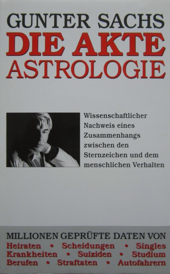 """Buchcover Gunter Sachs """"Die Akte Astrologie"""""""