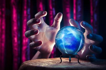 Kristallkugel für Wahrsagerei